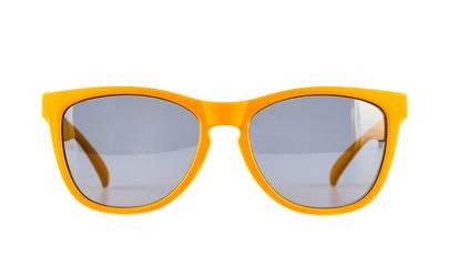 Yellow sun glasses isolated