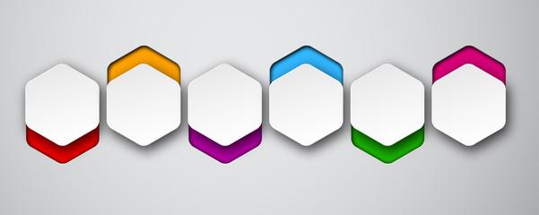 Paper white hexagonal notes.