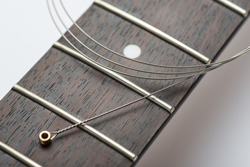 Guitar frets with string