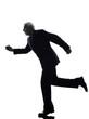 senior business man running silhouette