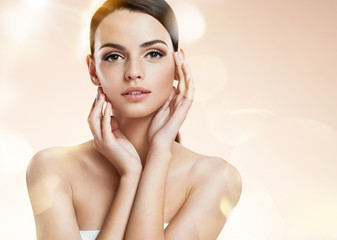 Young woman model, youth and skin care concept