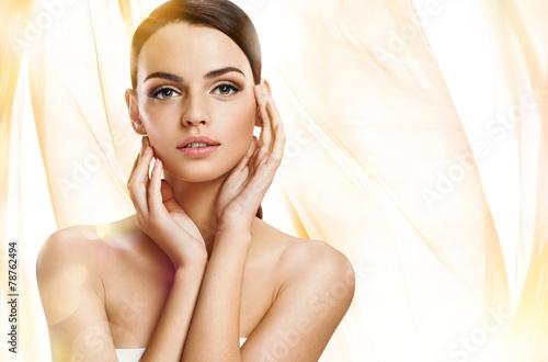 Beautiful girl with beautiful makeup, youth - 78762494