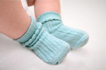 Small feet in socks
