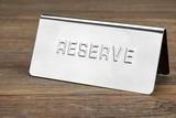 Metal Reserve Signboard