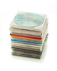 stack of CDs in boxes 2