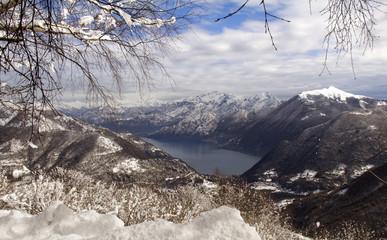 winter lake of Como view
