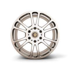 Alloy Wheel Rim front view isolated on white