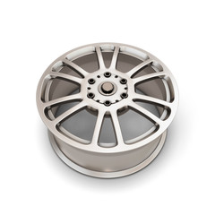 Alloy Wheel Rim on a white