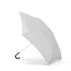 Open umbrella isolated on a white