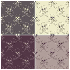 Seamless patterns with skulls