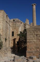Rhodos Griechenland Akropolis Säulen