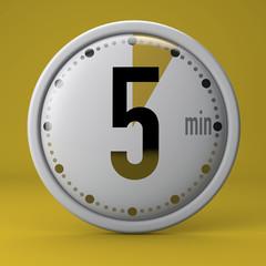 Tempo, orologio, timer, cronometro, 5 minuti