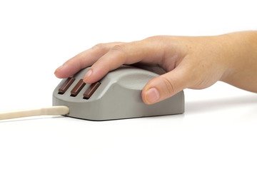 computer Mouse on the white background