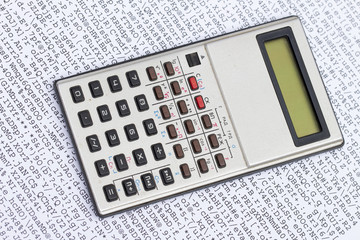calculator on the white background