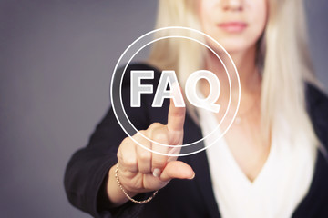 Business button FAQ connection web icon