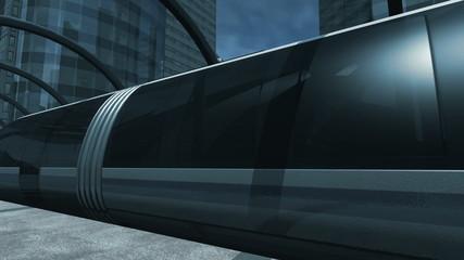Monorail ride through station