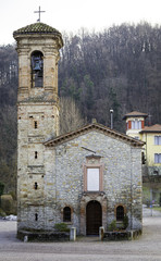 Oltrepo Pavese, old church. Color image