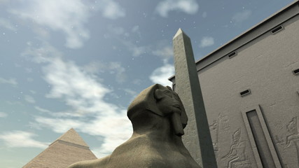 Animated ancient temple in Egypt