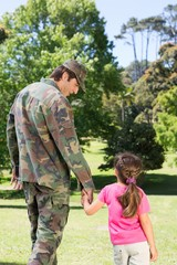 Soldier reunited with his daughter
