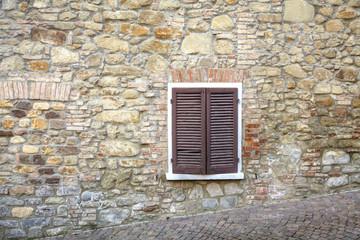 Oltrepo old village, detail. Color image