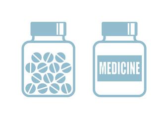Medicine icons on white background