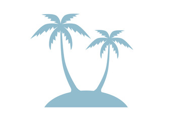Island vector icon on white background