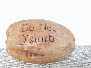 Do Not Disturb message on Coconut Shell