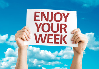 Enjoy Your Week card with sky background