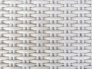 Pattern of White Plastic Weaving