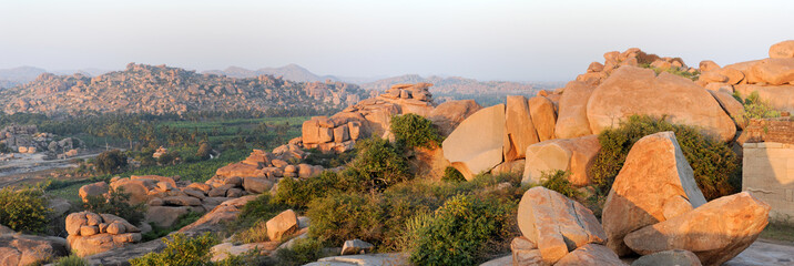 View from Malayavanta hill to Hampi