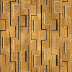 Abstract decorative pattern - seamless background - wooden surfa