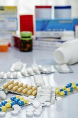 A pile of medicine or drug