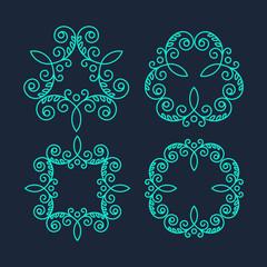 Monogram Logos. Vintage Vector Concepts.