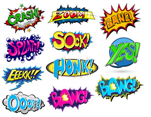 Set of Comic Expression Vector