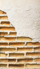 Brick wall cracked texture