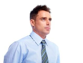 Thinking businessman.