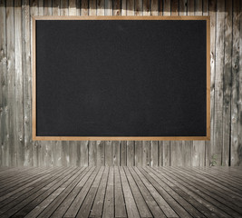 Blackboard on the wall background.