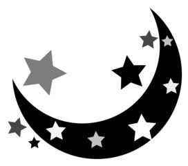 Stars Moon Shape