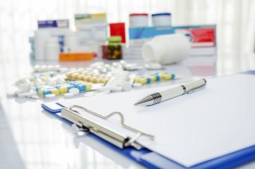 Doctor prescription medicine and pills