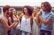 Zdjęcia na płótnie, fototapety, obrazy : Hipster friends enjoying ice lollies