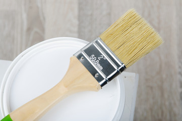paintbrush with bucket