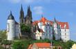 Leinwandbild Motiv Albrechtsburg Meißen, Sachsen, Deutschland