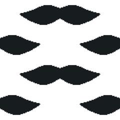 pixel art mustache seamless pattern
