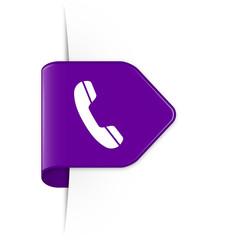 Phone - Purple Arrow Sticker with Shadow