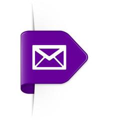 Envelope - Purple Arrow Sticker with Shadow