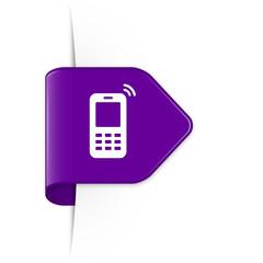 Mobile phone - Purple Arrow Sticker with Shadow