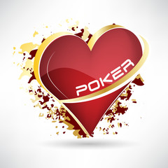 Texas holdem poker, 3D vector illustration with card symbol