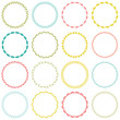 embroidered circle frames - 78769452