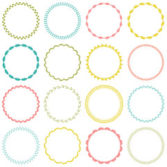 embroidered circle frames