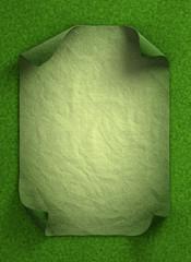 Curl paper in grass